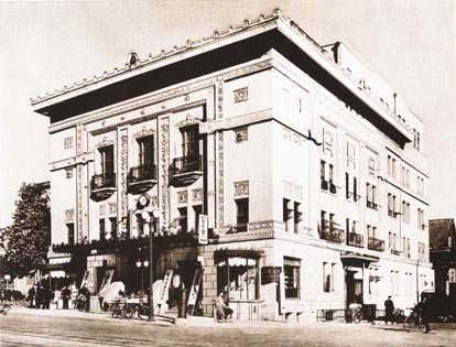 旧主婦の友社 当初の建屋姿(1925/大正14年) ヴォーリズ設計による、関東大震災復興期の耐震耐火建築の先駆的建物である。